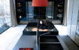 Poliform | sagartstudio - kitchens - Matrix dark countertop
