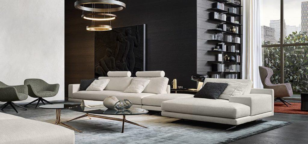 Velvet Chaise Sofa